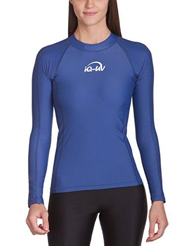 2004 Langarm-t-shirt (iQ-UV Damen 300 eng geschnitten, Langarm, UV-Schutz T-Shirt, Navy, S (38))