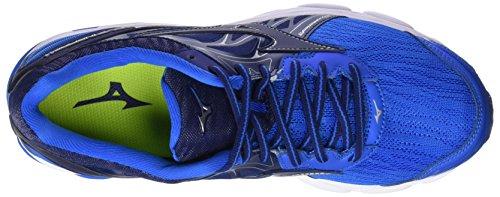 Mizuno Wave Inspire 14, Scarpe da Running Uomo Blu (Directoire Blue/Bluedepths/Safety Yellow)