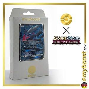 Darkrai-GX 139/147 Full Art - #myboost X Sonne & Mond 3 Nacht in Flammen - Box de 10 Cartas Pokémon Aleman