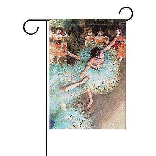 HEOEH Flagge für Tanz/Ballett / Mädchen, doppelseitig, dekorativ, 30,5 x 45,7 cm 12x18(in) Mehrfarbig