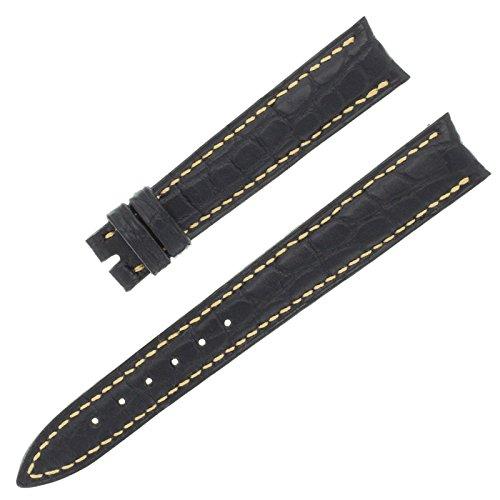 Franck Muller 14–12mm echt Alligator Leder schwarz Armbanduhr Band
