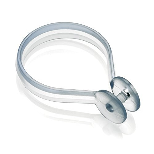 Croydex Clear Shower Curtain C-Rings, Pack of 12, Chrome: Amazon ...