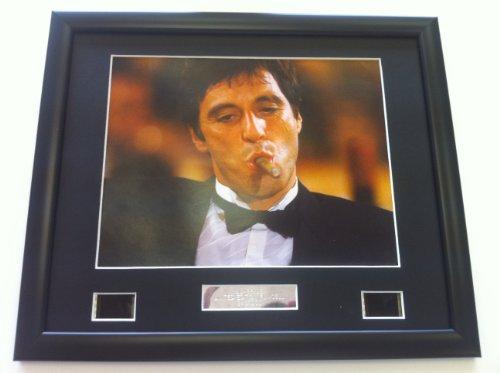Al Pacino Scarface Affiche encadrée Film cellule photo cigare