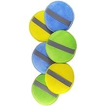 glart 46PP Pad di lucidatura con microfibre con l'elastico nel set di 6: 2 medie blu,  2 verde e 2 pastiglie