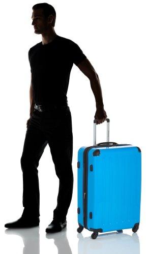 HAUPTSTADTKOFFER - Alex - 3er Koffer-Set Trolley-Set Rollkoffer Reisekoffer Erweiterbar, 4 Rollen, (S, M & L), Titan Cyanblau