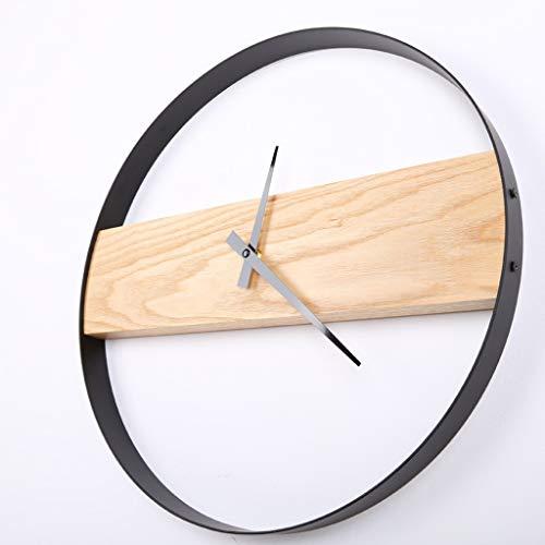 GXCNINIO Eiche Wanduhren, Einfache Runde Kreative Uhr Aus Holz Keine Zweite Hand Stumm Wand Hängen Dekorative Uhr Schlafzimmer Wohnzimmer Büro Moderne Wanduhr (Color : 35cm)
