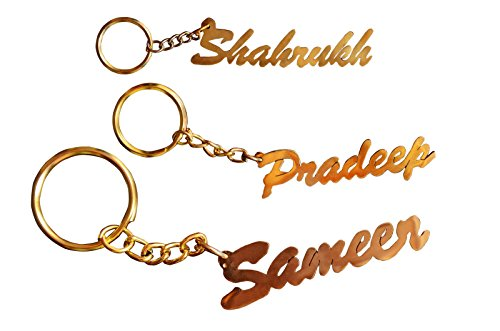 Sajal Personalized Keychain with Your Own Name or Any Name Handcarved Brass Made Gift
