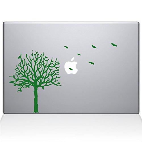 The Decal Guru 2094-MAC-15X-LG Aufkleber Baum mit Vögeln, Vinyl-Aufkleber, Grün, 38,1 cm (15 Zoll) MacBook Pro (2016 und Neuer) - Decal Baum Mac