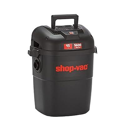 Shop Vac 3941024 Wall Mount Wet-Dry Vacuum Cleaner, 15 Litre, 1400 W, Black