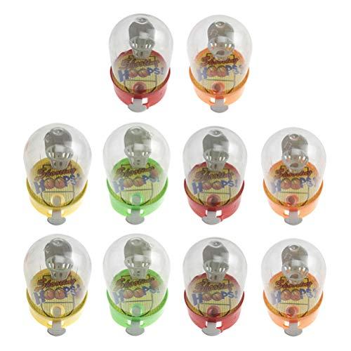STOBOK Mini-Basketball-Spielzeug, für Kinder, zufällige Farbe, 10 Stück