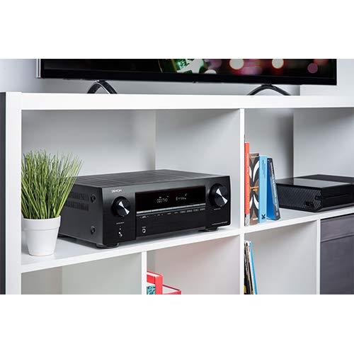 Denon AVR-X250BT 5.1 AV-Receiver (130 Watt pro Kanal, 4K/Ultra-HD, Bluetooth, ECO-Modus, 5 HDMI-Eingänge) schwarz
