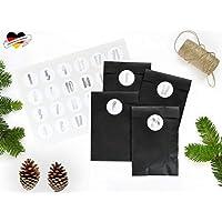 renna deluxe Adventskalender Silber Metallic Schwarz DIY Set für Frauen Männer und Kinder schlicht modern Hygge Vintage Scandi Stil