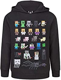 Minecraft Sprites Boy's Black Hoodie