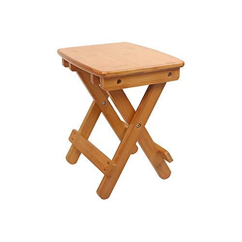 YQQ Tabouret Pliant en Bois Massif Bambou Mazza Petit Banc Coiffeuse Tabouret Portable Chaise De Pêche Adulte De Plein Air (Taille : High39.7cm)