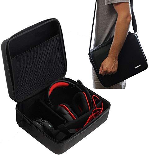 Navitech Etui de Transport Eva Dur Noir Compatible avec Casque et Casque de Jeu compatibles avecaudio-Technica ATH-PG1 / Audio-Technica ATH-PDG1