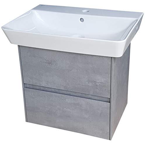 Ideal Standard Connect Air Waschtisch 60 × 46 cm plus Unterschrank in beton-grau