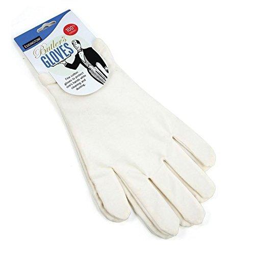 Butlers Guanti - Bianco - 100% Cotone Proteggere Le Mani - Ideale Per L'Eczema O Chi Soffre Di Allergie - Taglia Unica (Confezione da 4)