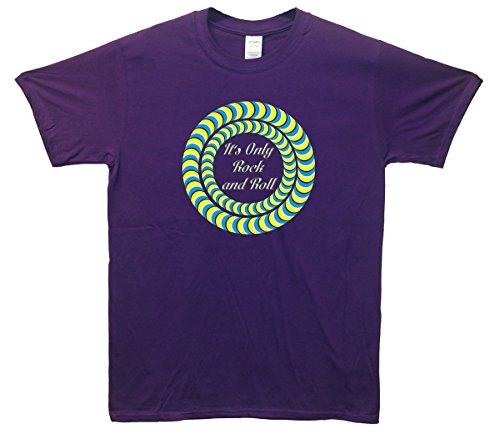 its-only-rock-and-roll-optical-t-shirt-violett-medium-96cm-102cm