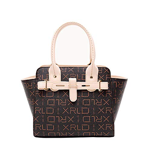 YSAN Damen Designer Schultertasche Handtasche Diagonalpaket,Beige-OneSize