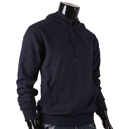 BCPOLOHerren Kapuzenpullover, Einfarbig Schwarz Navy (Hoody Sweatshirt Praxis)