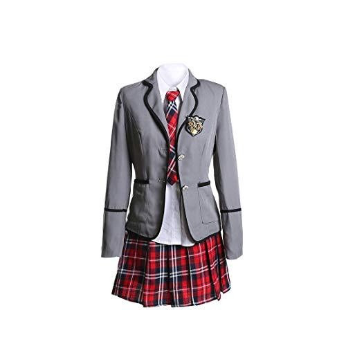 Offizier Kostüm Damen Deutscher - URSFUR Mädchen Japan Kostüm Langärmelige Anzug Cosplay Uniform Anime Uniform - Stil 2-M