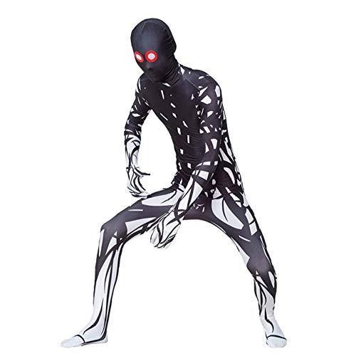 Spiderman Kostüm Augen - 3D Spiderman Geist Der Roten Augen Cosplay Erwachsene Kinder Siamesische Strumpfhosen Spielen Kleidung Halloween Kostüm Overall Phantasie Kostüm Requisiten,Adult-L