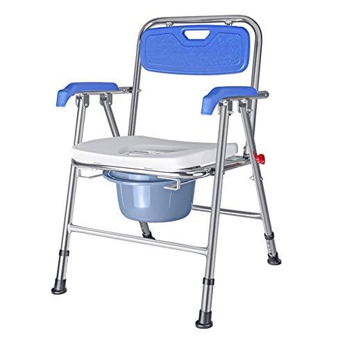 Yuany Ali Klappstuhl mit gepolstertem Toilettensitz Bad Anti-Rutsch höhenverstellbar Duschhocker für Badezimmer Ältere Person/Schwangere/Behinderte Töpfchen