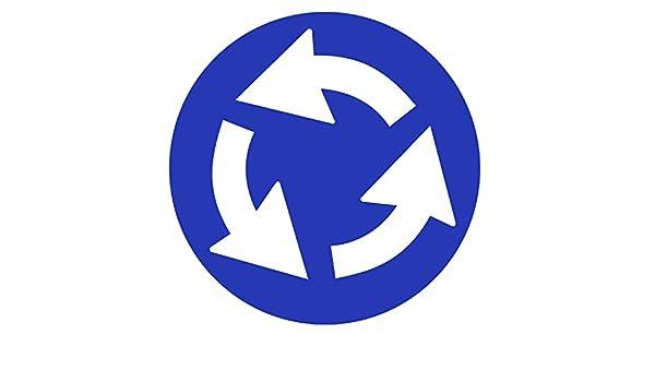 Inga Vintage Sign Plaque en m/étal Bleu 30,5 x 30,5 cm