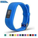Bemodst Correa Strap para Reloj Garmin Vivofit 3, Pulsera de Silicona Brazalete de Reemplazo Banda de Repuesto para Hombre Mujer (Azul)