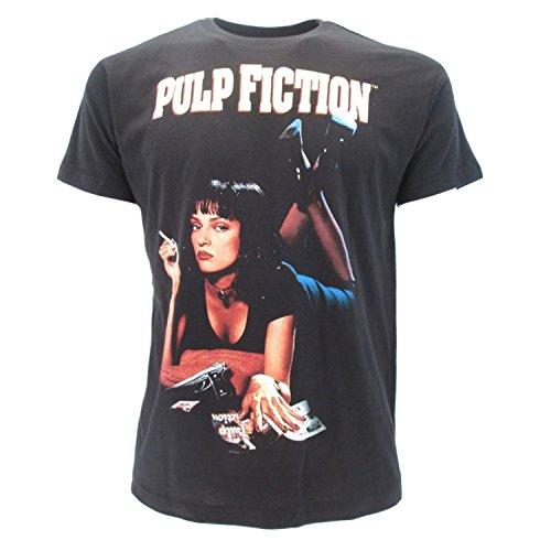 eb866e77 T-shirt Originale Pulp Fiction Mia Wallace Uma Thurman Quentin Tarantino  Miramax maglia nera con cartellino ed etichetta di originalità maglia  maglietta (L ...