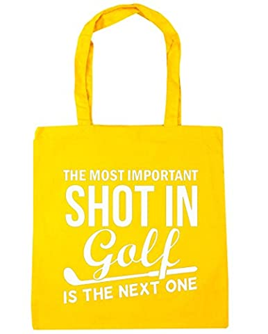 HippoWarehouse The most important shot in golf is the next one Tote Shopping Gym Beach Bag 42cm x38cm, 10