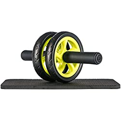 Ultrasport Unisex's AB Wheel Compact Abdominal Muscle Trainer for The Home, Green, One Size