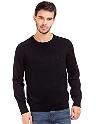 Nautica Mens Cotton Sweater (8907378791351_NTS631020TB_Medium_True Black)