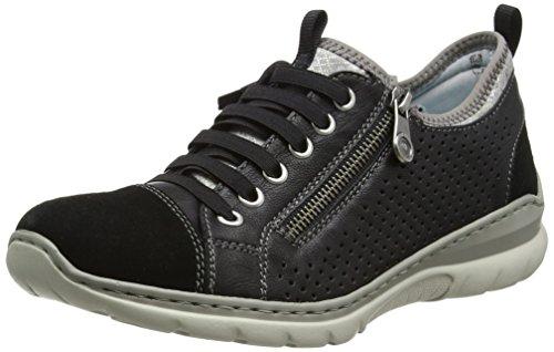 Rieker Ladies L3277-01 Sneakers Nero (01)