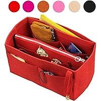 Organizador de fieltro (con bolsa de cremallera media desmontable), bolsa en bolsa, inserto de bolsa de lana, organizador personalizado organizador, bolso de pañales de maquillaje cosmético
