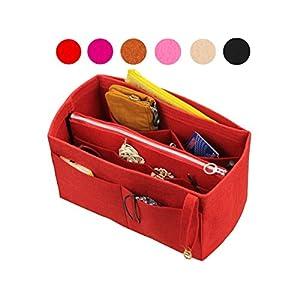Felt Organizer (mit abnehmbaren mittleren Zipper Bag), Tasche in Tasche, Wolle Geldbörse einfügen, individuelle Tote organisieren, Kosmetik Make-up Windel Handtasche