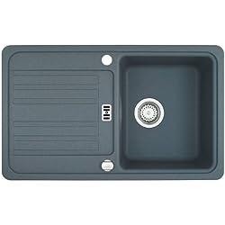 Franke EFG 614-78 1140028309 - Lavello da incasso in fragranite, vasca reversibile, colore: Grigio pietra