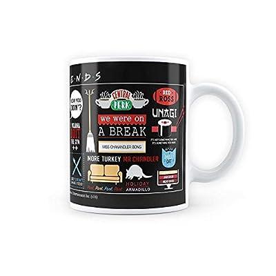 Friends Tv Series Infographic Coffee Mug - Friends Coffee Mug - Cute, Love Gift for Friends Brother Sister Boyfriend Girlfriend