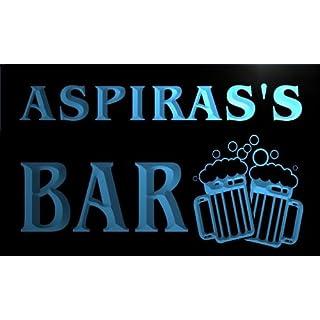 w061381-b ASPIRAS Name Home Bar Pub Beer Mugs Cheers Neon Light Sign