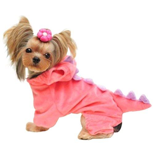 dulee Pet Cosplay Dinosaurier Kleidung Cool Halloween Weihnachten Pet Kleid Up 3D Verklärung (Kostüme Coole Dinosaurier)