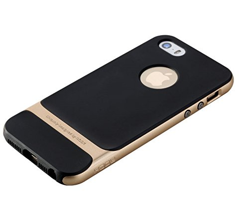Kapa ROCK Royce Series Shockproof Dual Layer Back Case Cover for Apple iPhone 5 5S - Gold