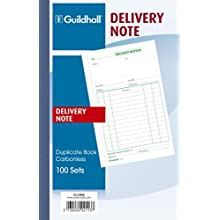 Exacompta Guildhall Duplicate Delivery Note Book, 210x135mm, 100 Sets, Cloth Tape Binding