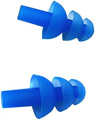 Tapones para los oídos de silicona para natación–5pares (10 piezas) de tapones suaves y flexibles para los oídos para nadar o dormir.