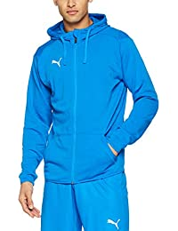 Puma Liga Casuals Hoody Jacket Sudadera, Hombre, Electric Blue Lemonade/White, XXL