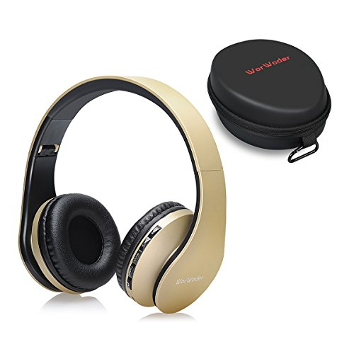 Bluetooth Kopfh?rer Over Ear,Kabellose Headset Stereo Wireless Bluetooth-Kopfh?rer mit Mikrofon Klappbares Design f¨¹r Android, PC und Andere Bluetooth by WorWoder (Gold) Service-booster-kabel