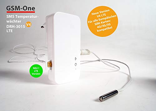 GSM-Temperaturwächter, FROSTWARNER, HITZEWARNER, STROMAUSFALLWARNER von GSM-One 4G/LTE DRH-3015-V4