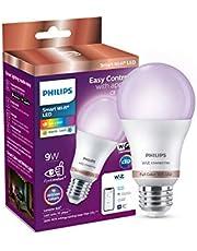 Philips Smart Wi-Fi LED Bulb E27 9-Watt WiZ Connected (Pack