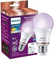 Philips Smart Wi-Fi LED Bulb E27 9-Watt WiZ Connected (16 Million Colors + Warm White/Neutral White/White + Di