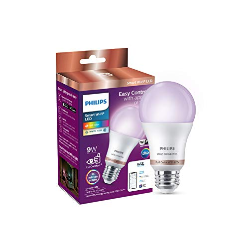 Philips Smart Wi-Fi LED Bulb E27 9-Watt WiZ Connected (Pack of 1)