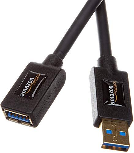 AmazonBasics FDBU USB 3.0-Verlängerungskabel (A-Stecker auf A-Buchse) 1 m, Schwarz